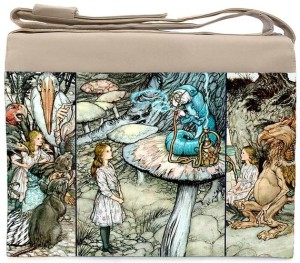 Alice laptop bag featuring Arthur Rackham Alice Illustration